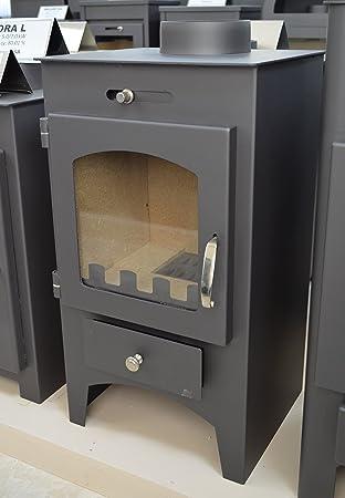 Estufa de leña Multi combustible chimenea Log quemador de la madera para 5 kW chimenea: Amazon.es: Bricolaje y herramientas