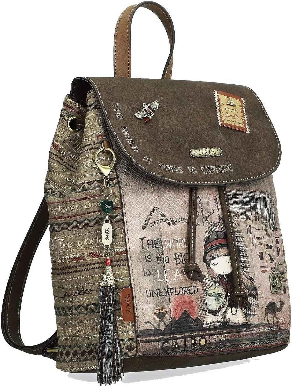 Anekke Original mochila de paseo en tonos tierra