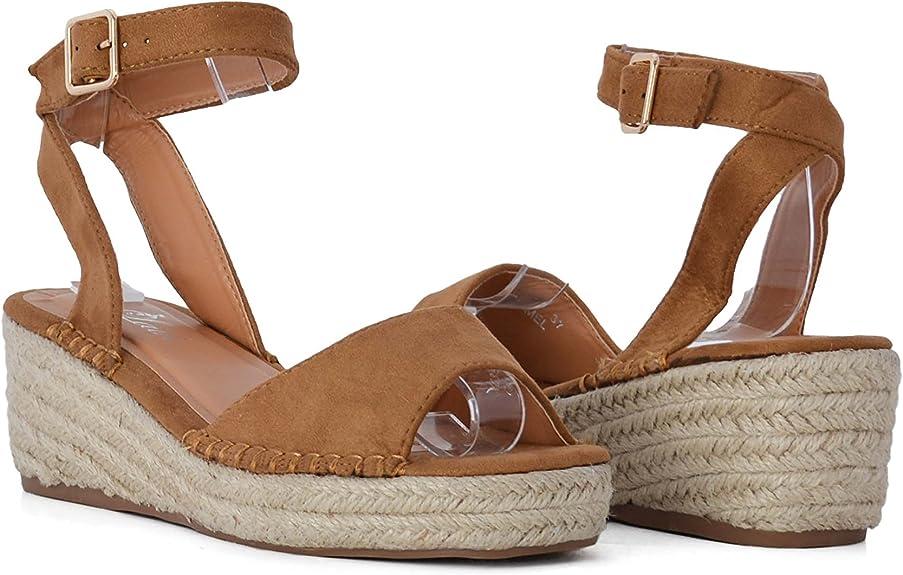Sandalias de Mujer con Plataforma Estilo Alpargata con Suela de Yute SS20