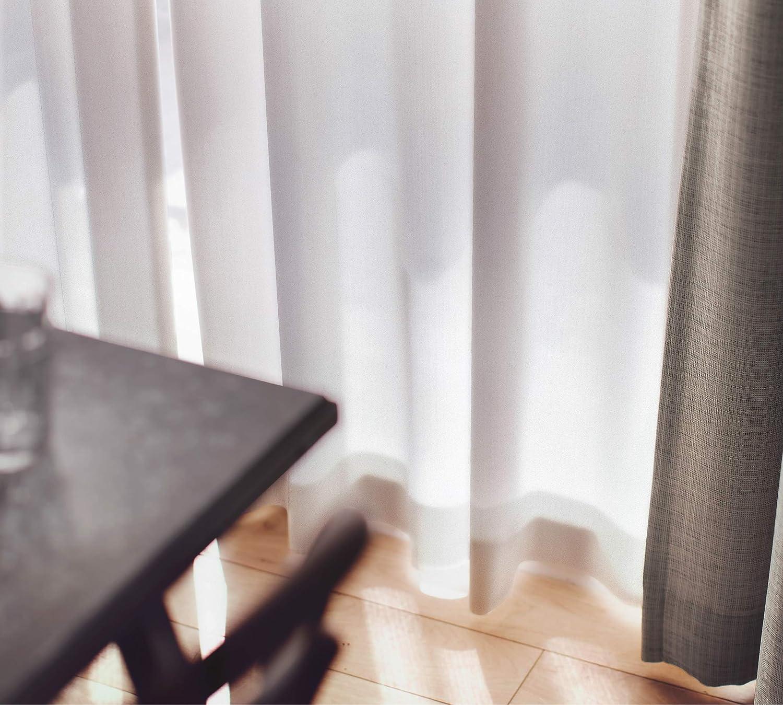 スミノエ(Suminoe) レースカーテン ナチュラルホワイト 幅165cm ×丈183cm エール 洗える オーダーレース G1031   B07BP542QH