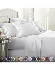 Danjor Linens 6 Piece Hotel Luxury Soft 1800 Series Premium Bed Sheets Set, Deep Pockets, Hypoallergenic, Wrinkle & Fade Resistant Bedding Set Colors