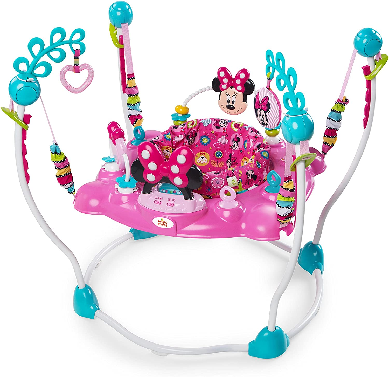Disney 10299 - Saltador para bebé Minnie Mouse Rosa Columpio Rebotador Bota Bota , Modelos/colores Surtidos, 1 Unidad