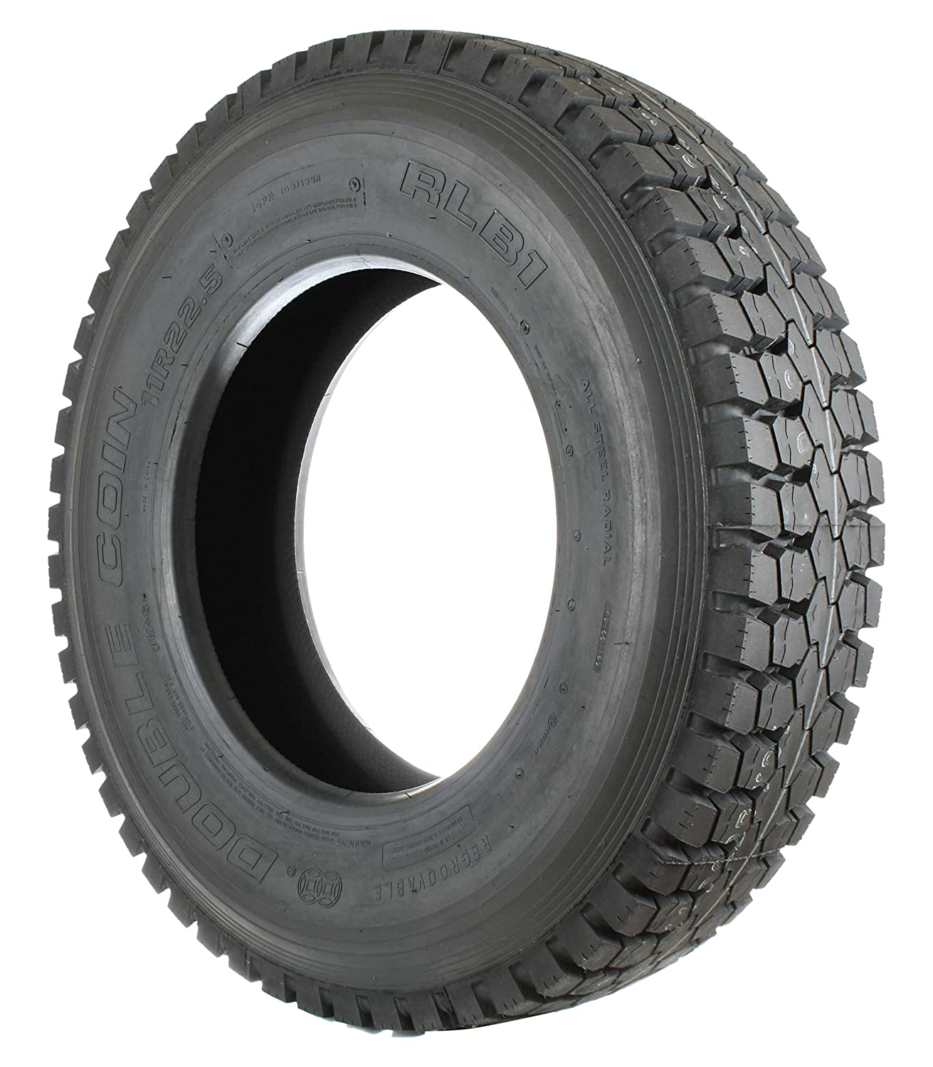 Double Coin RLB1 Open Shoulder Drive-Position Commercial Radial Truck Tire  - 10R22.5