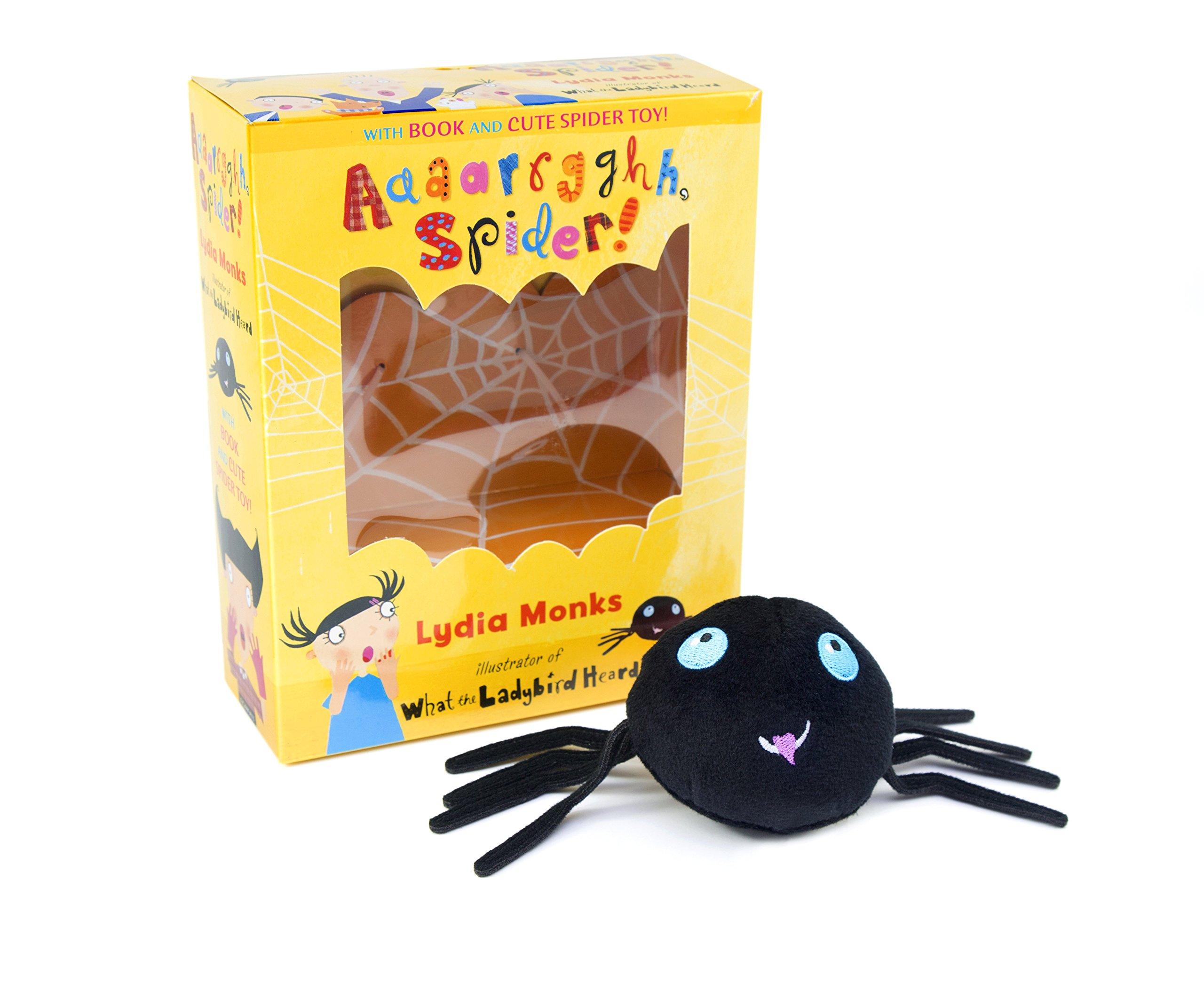 aaaarrgghh spider book u0026 plush set amazon co uk lydia monks