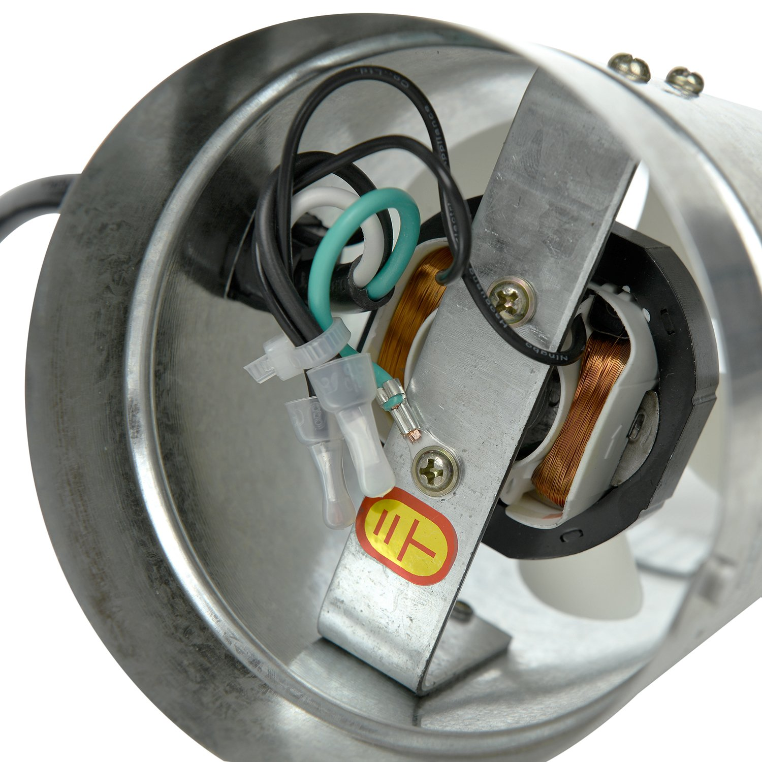 HiHydro 4'' Inline Duct Booster Fan 100 CFM, Low Noise & Extra Long 5.5' Grounded Power Cord (4''/100CFM) by HiHydro (Image #3)