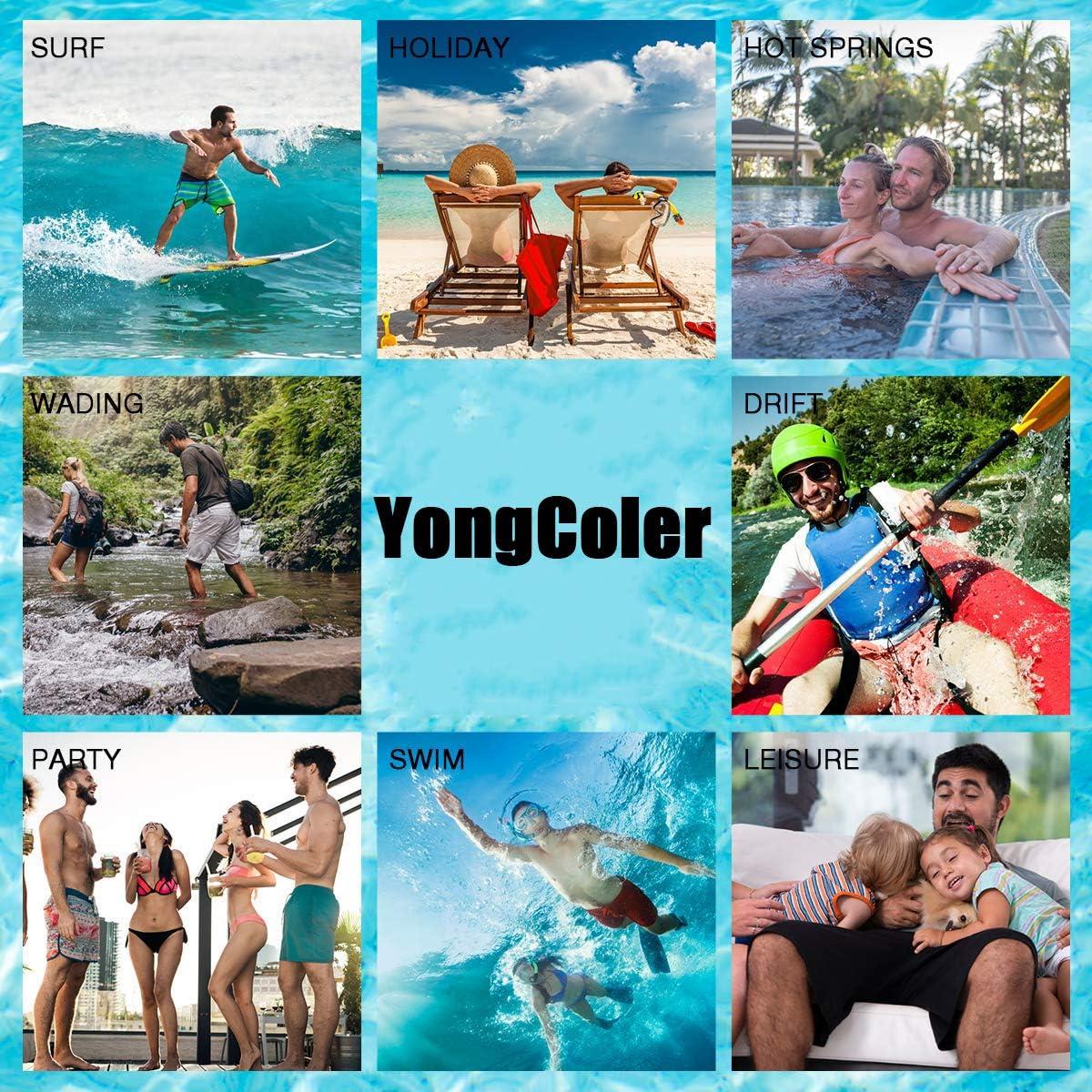 Sea Glass YongColer Mens Swim Trunks Quick Dry Beach Shorts
