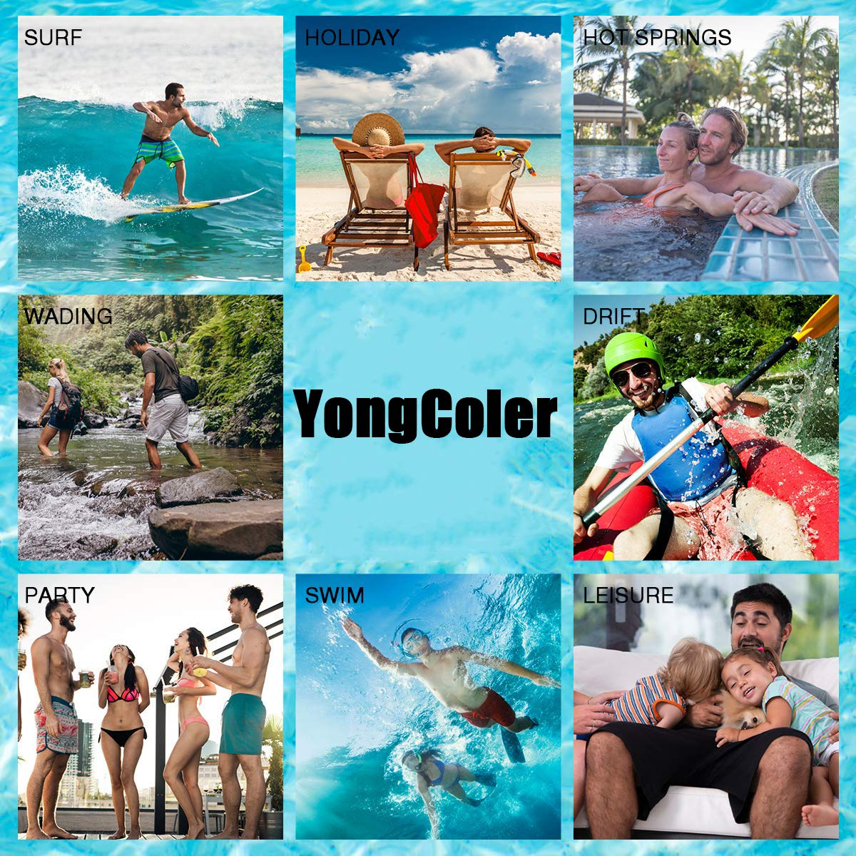 Swim Trunks Summer Beach Shorts Pockets Boardshorts for Men Youth Boys Rainbow Music Notes White