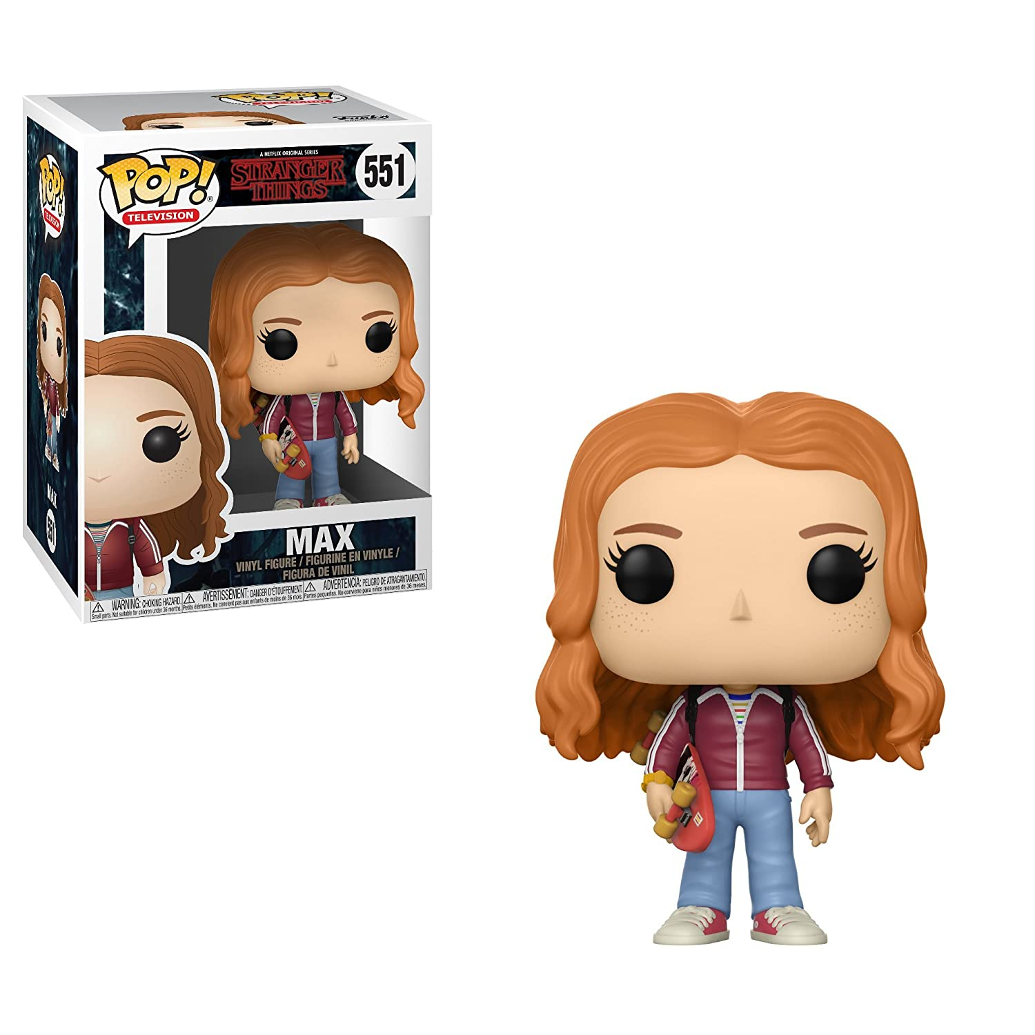 1255dab696db60 Amazon.com  Funko Pop Television  Stranger Things - Max with Skateboard  Collectible Vinyl Figure  Stranger Things  Toys   Games