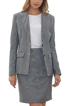 Amazon Com Hanayome Women S Suit Sets Slim Fit Two Pieces Casual