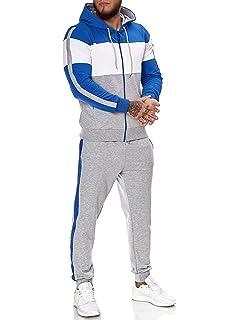REPUBLIX Herren Cargo Stil Sportanzug Jogginganzug Trainingsanzug Sporthose+Hoodie R-0028
