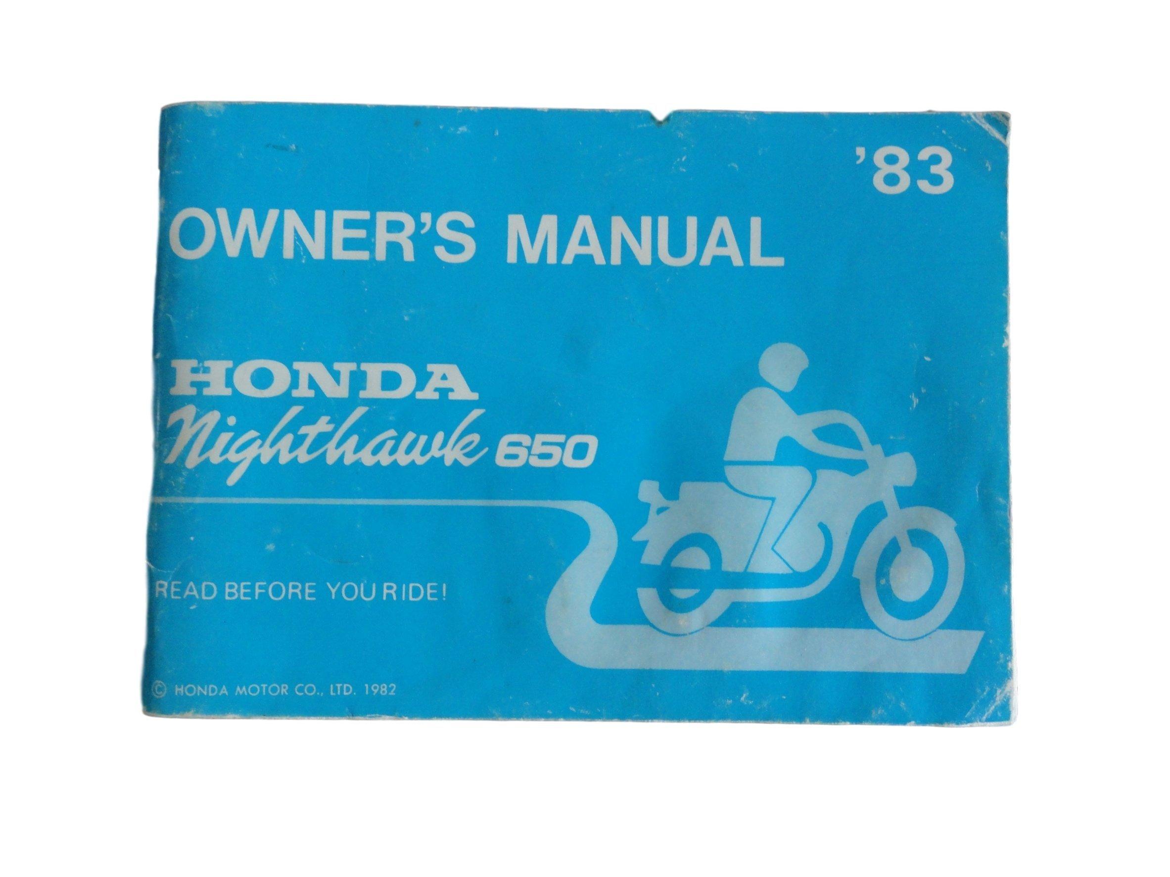 Honda Owners Manual >> 1983 Nighthawk 650 Honda Owners Manual Honda Amazon Com Books