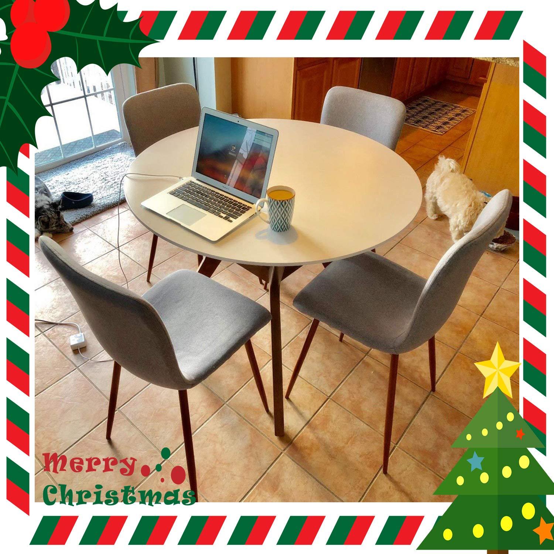 Amazon Coavas Kitchen Dining Chairs Set of 4 Fabric Cushion