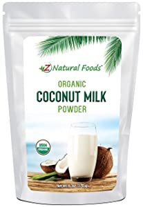Z Natural Foods Organic Coconut Milk Powder - All Natural Creamer - 6 oz