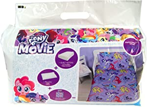Cartoon Characters Brands :Junior Bed Set,4 Piece Bedding Bundle Quilt,Pillow Pillowcase,Duvet Cover (My Little Pony)