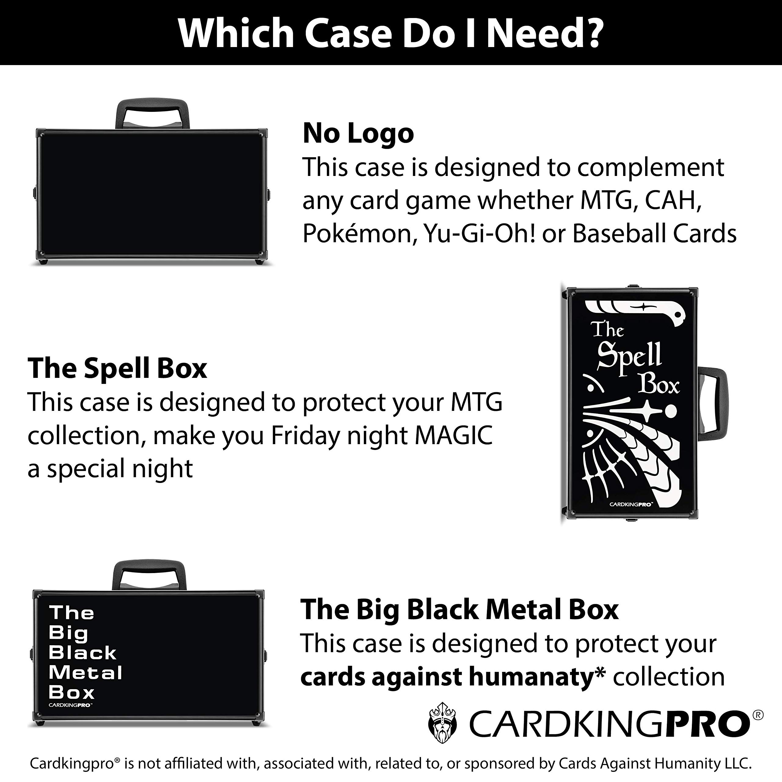 Game Card Storage Case (BBB Edition) | Case is Compatible with Magic The Gathering, MTG, All Standard Card Games (Game Not Included) | Includes 8 Dividers | Fits up to 2500 Loose Unsleeved Cards by CardKingPro (Image #7)