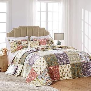 Greenland Home Blooming Prairie Queen 3-Piece Bedspread Set