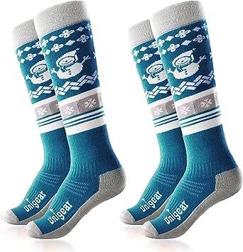 Lenz Skiing Kids 1.0 Grey//Orange Socks Stockings Kids Winter Socks Running J18