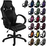 """RACEMASTER® """"GS Series"""" - Silla de escritorio/Gaming silla de despacho - Mecanismo de inclinación y elevación Homolación SGS - Disponible en 20 colores - silla de oficina Negro"""