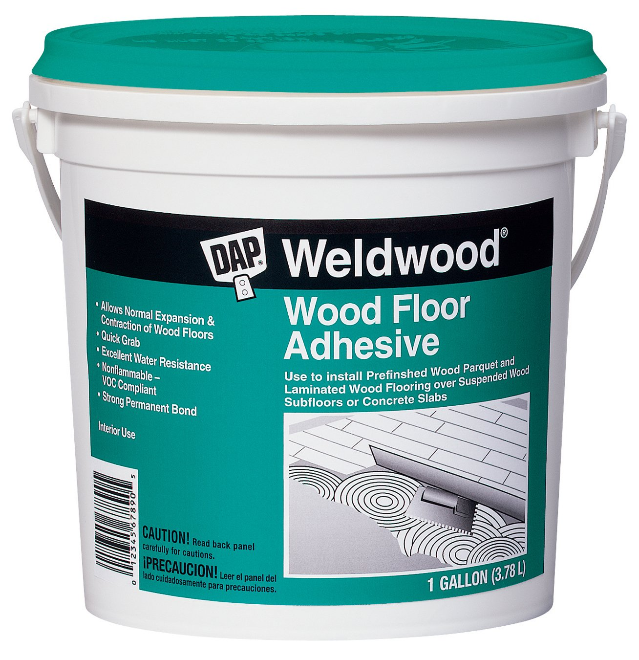 Dap 25133 Weldwood Wood Floor Adhesive, Gallon   Household Wood Stains    Amazon.com