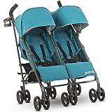 JOOVY Twin Groove Ultralight Umbrella Stroller, Turquoise
