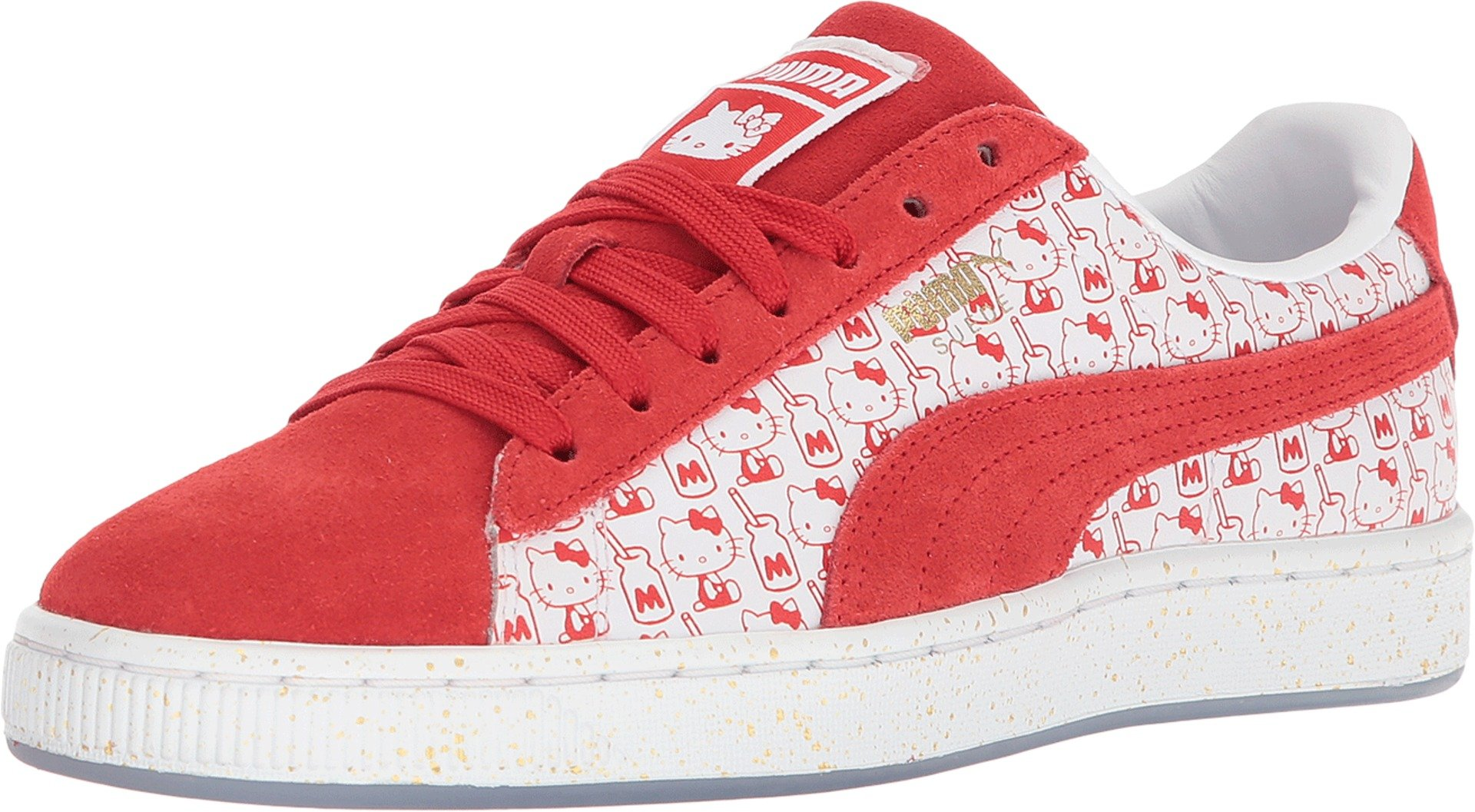 reputable site 124d3 ffde7 PUMA Suede Classic X Hello Kitty Womens Red Suede Sneakers Shoes (10 M US,  Bright Red/Bright Red)