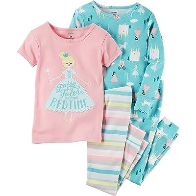 Carter's Baby Girls' 12M-24M 4 Piece Princess Bedtime Sleepwear Set