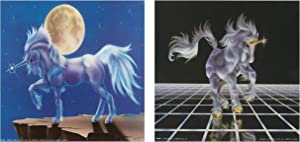 Mythical Unicorn Horse Fantasy Picture Two Set 8x10 Picture Wall Decor Art Print Posters