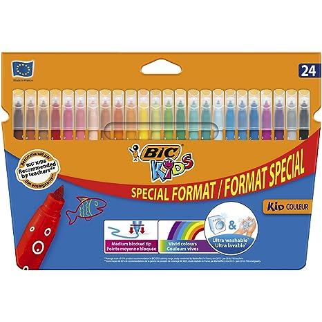 Feutre A Coloriage En Anglais.Bic Kids Kid Couleur Feutres De Coloriage Etui Carton De 18 6