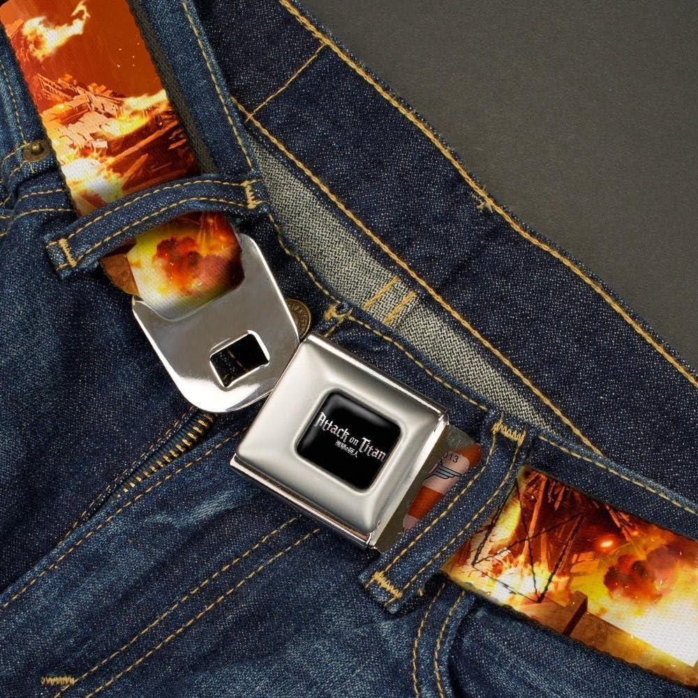 Attack on Titan Eren V 1.5 Wide Buckle-Down Seatbelt Belt 32-52 Inches in Length Titan Scene