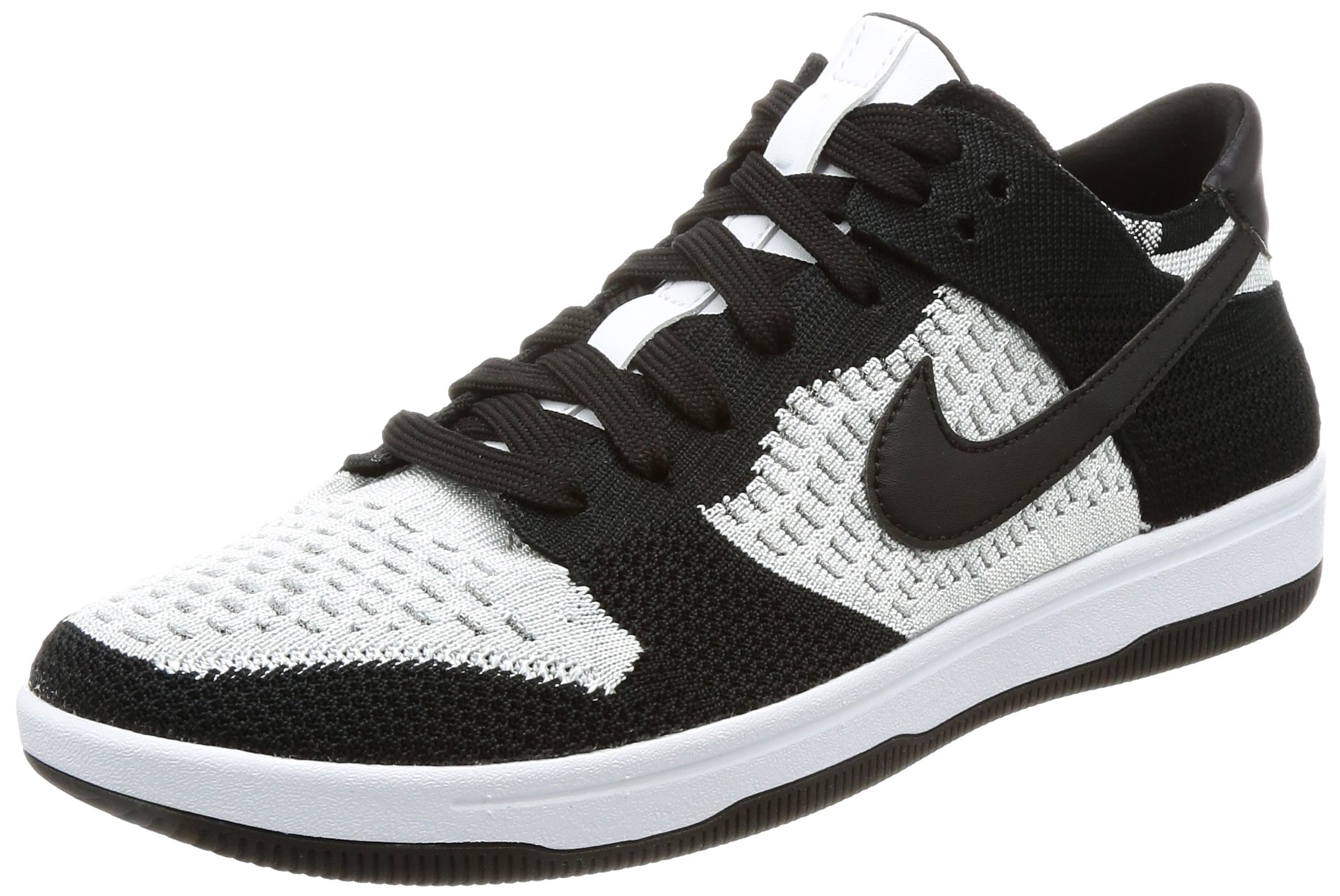 9575f0205ca768 Galleon - Nike Men s Dunk Flyknit White Black-Wolf Grey Ankle-High  Basketball Shoe - 11M