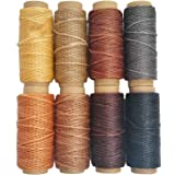 264 Yards 150D Leather Sewing Waxed Thread Cord for Leather Craft DIY 1mm Diameter8 Colors Thread CordEach of 33 Yards