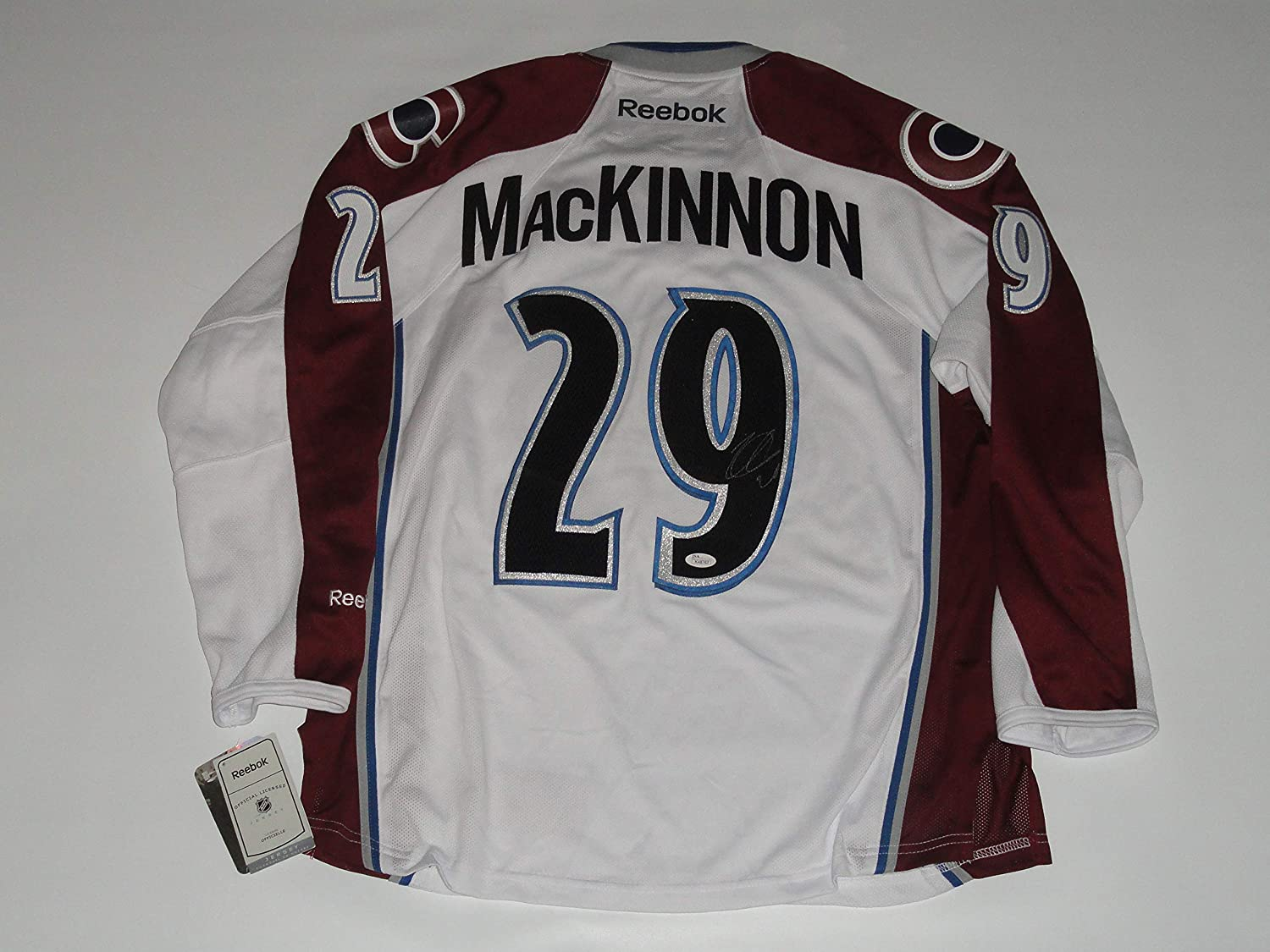 cheaper a90d3 463a2 NATHAN MACKINNON SIGNED COLORADO AVALANCHE ROAD JERSEY ...