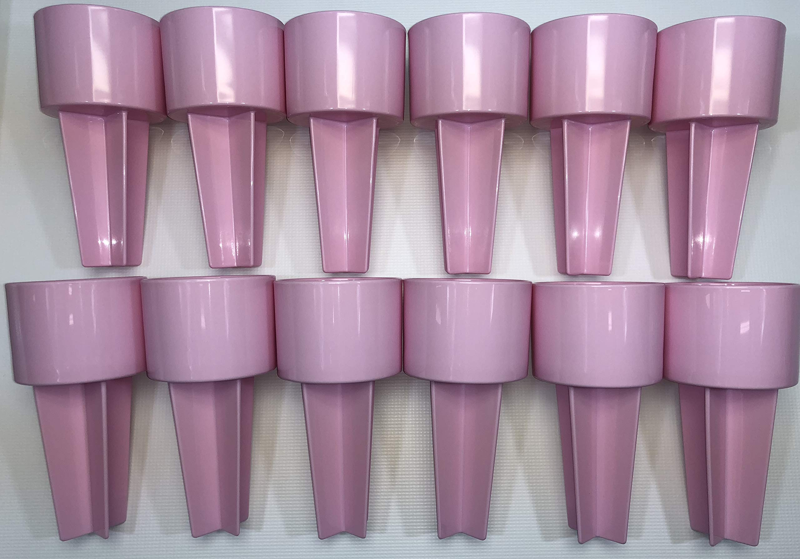 SPIKER Lifestyle Holder: for the beach & sofa: holds drinks & more. Set of 12 in BLUSH color, decorate as you wish