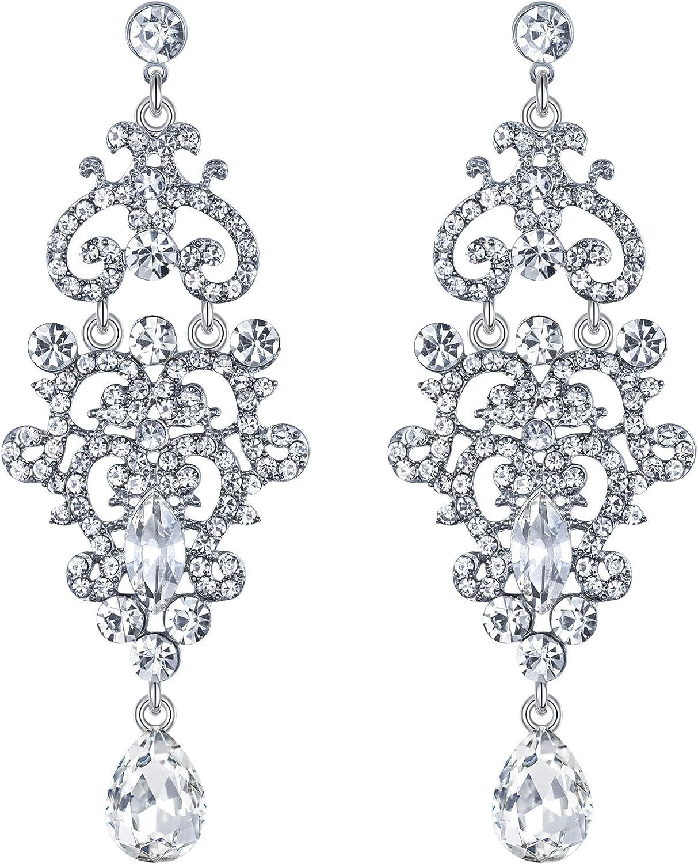 Clearine Damen Ohrringe Hochzeit Braut Kristall Vintage Drop