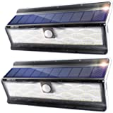 EZBASICS Solar Lights Outdoor, 200 LED Solar Motion Sensor Lights Outdoor with 3 Optional Modes, IP65 Waterproof, Wide-Angle