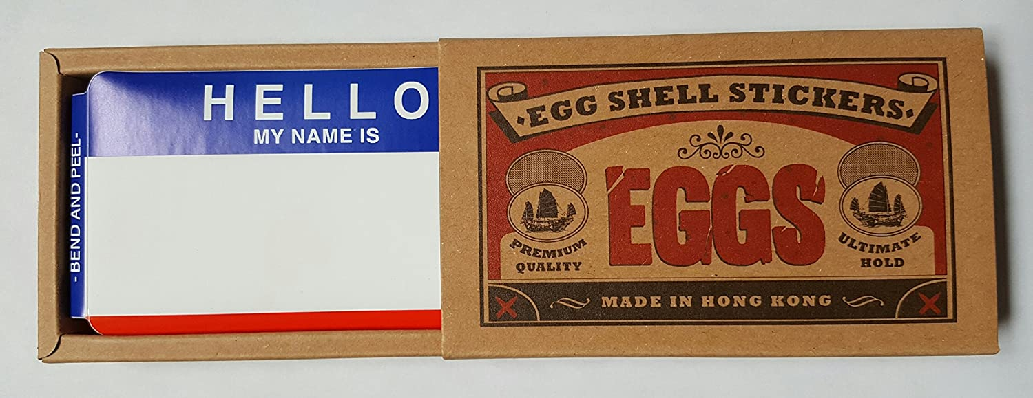 Amazon com egg shell stickers graffiti label stickers 80 pack hello my name is red blue home kitchen