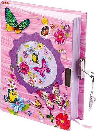 Farfalle Diario segreto con lucchetto