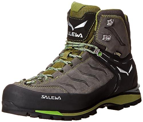 SALEWA Mtn Trainer Mid Gtx, Scarpe da trekking Uomo, Grigio (Pewter/Emerald 4052), 40.5 EU