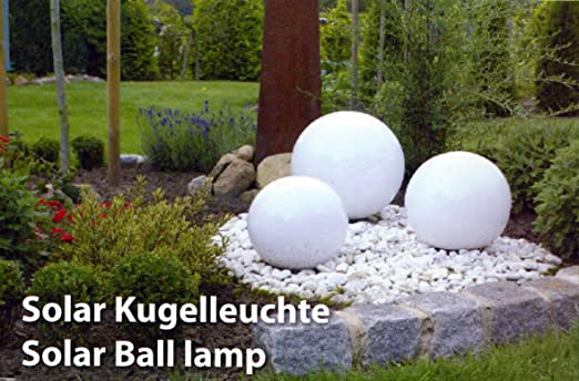 LED Leuchtkugel Solar 20/25/30 cm von Kynast Garden 3er Set: Amazon ...