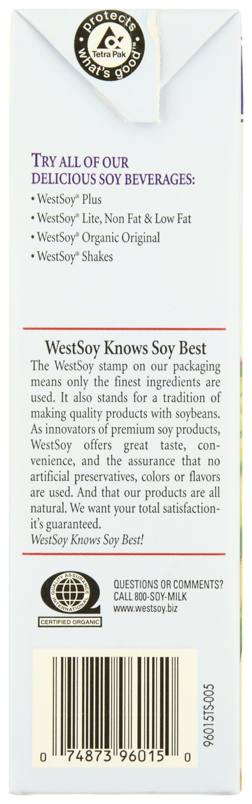 Westsoy Soy Milk Unsweetened Organic, Gluten Free, 32-ounces (Pack of 6) by West Soy (Image #4)