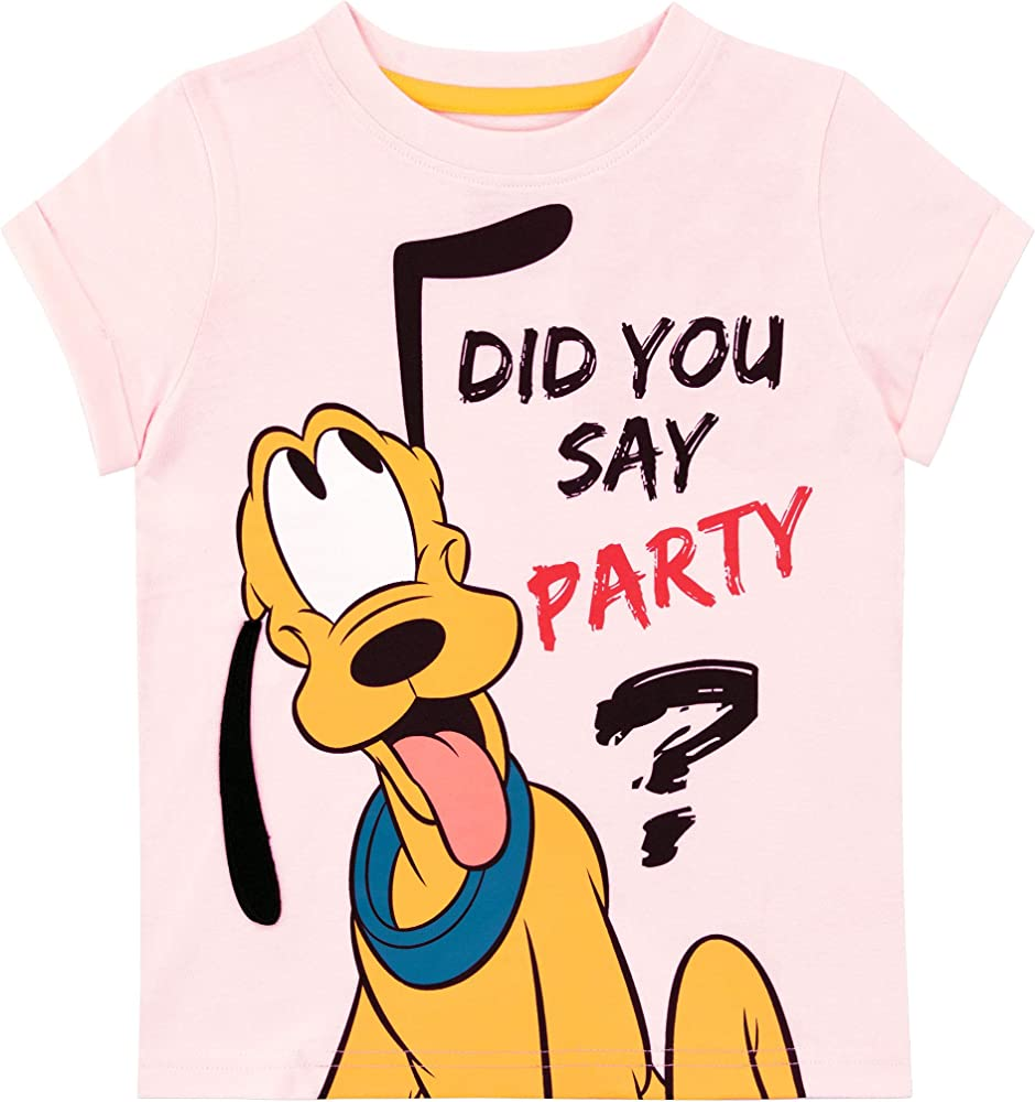 Disney Camiseta de Manga Corta para niñas Pluto Rosa 18-24 Meses ...