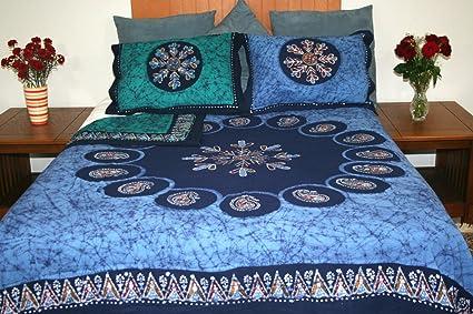 Multi Batik Reversible Duvet Cover Includes 2 Pillow Shams