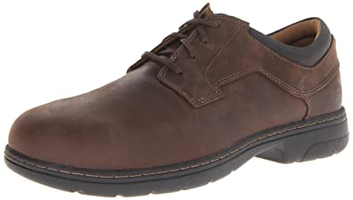 Timberland PRO Men's Branston Brown Oxford Work Shoe,Brown Distressed,7