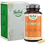 Vegan B-Complex Vitamins Plus Choline & Inositol   High Potency B1, B2, B3, B5, B6, B7, B9 Supplement with Pure Methyl…