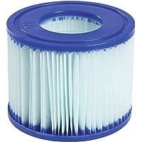 Bestway Set de Dos Filtros de Cartucho Anti Bacterias Tipo Vi para Lay-Z-SPA, Blanco, 10.6x10.6x8 cm, 58477
