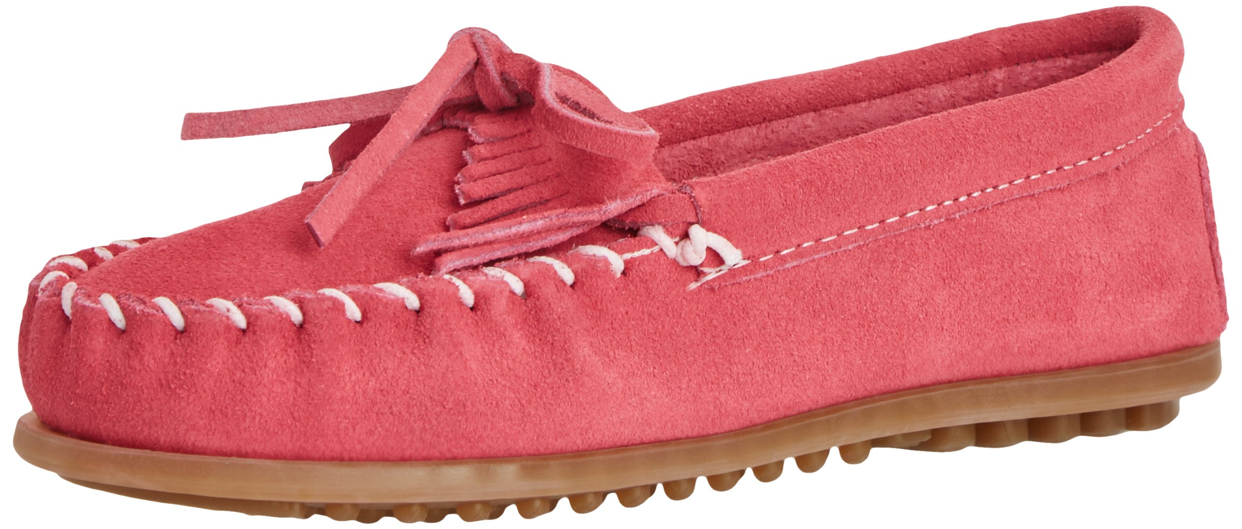 Minnetonka Kilty Moc (Toddler/Little Kid/Big Kid),Hot Pink,10 M US Toddler