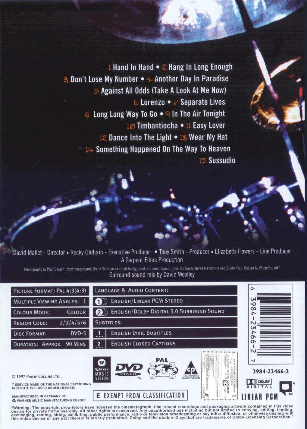 Phil Collins - Live & Loose in Paris by Warner Vision Uk
