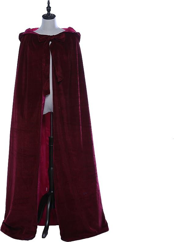 "Rose Silken Cloth Satin Cloak Wedding Long Cape 71/"" Wicca Robe Cosplay Costumes"