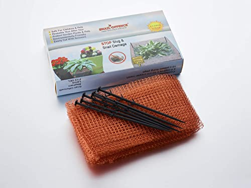 Snail Offence  Copper Mesh Fence Barrier – Protect Plants From Slug And Snail Damage. 99.9% Pure Copper Tape Snail And Slug Barrier For The Best Slug Control Available