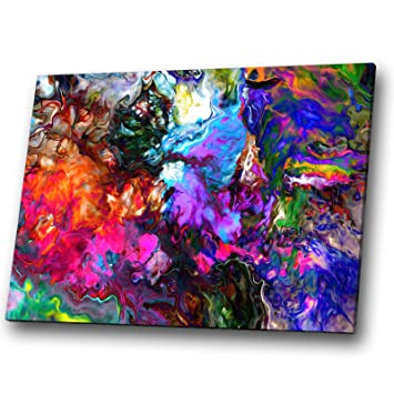AB970 Retro Colourful Cool Modern Abstract Canvas Wall Art Large Picture Prints